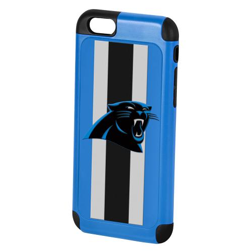 Apple iPhone 6/6S Plus (5.5 inch) NFL Case, Slim Dual layer Hybrid Hard Case on TPU Case [Carolina Panthers]