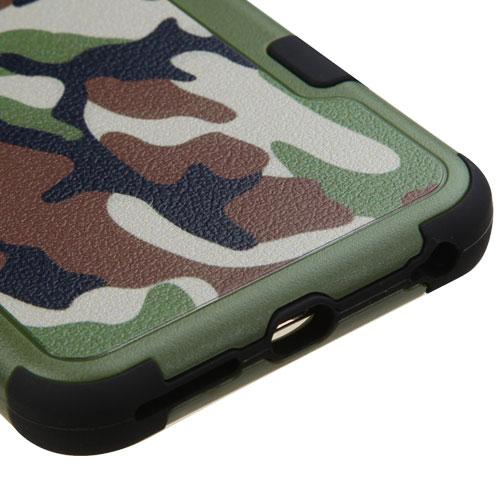 [Apple iPhone 6/6S Plus] (5.5 inch) Case, TUFF Hybrid Dual Layer Hard Case on Silicone Skin [Classic Universal Camouflage]