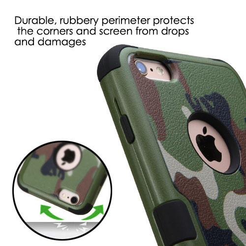 Apple iPhone 6S/6 Plus (5.5 inch) Case, TUFF Hybrid Dual Layer Hard Case on Silicone Skin [Classic Universal Camouflage]
