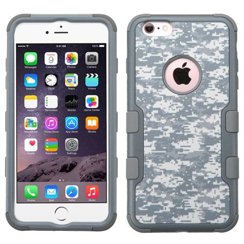 Apple iPhone 6S/6 Plus (5.5 inch) Case, TUFF Hybrid Dual Layer Hard Case on Silicone Skin [Iron Gray Universal Camouflage]