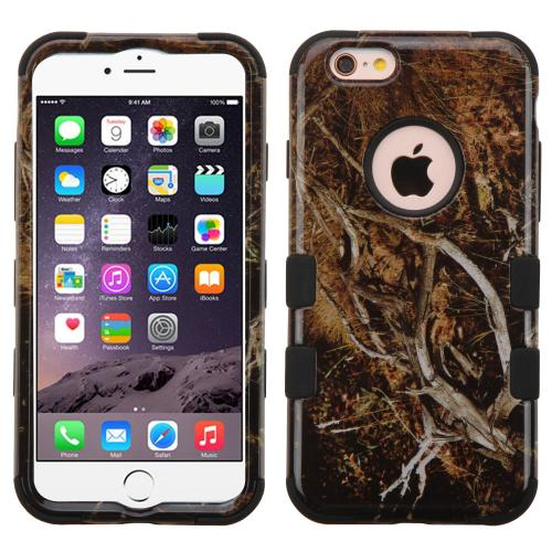 [Apple iPhone 6/6S Plus] (5.5 inch) Case, TUFF Hybrid Dual Layer Hard Case on Silicone Skin [Tree Branches on Black]