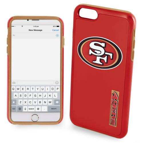 Apple iPhone 6/6S (4.7 inch) NFL Case, Slim Dual layer Hybrid Hard Case on TPU Case [San Francisco 49ers]