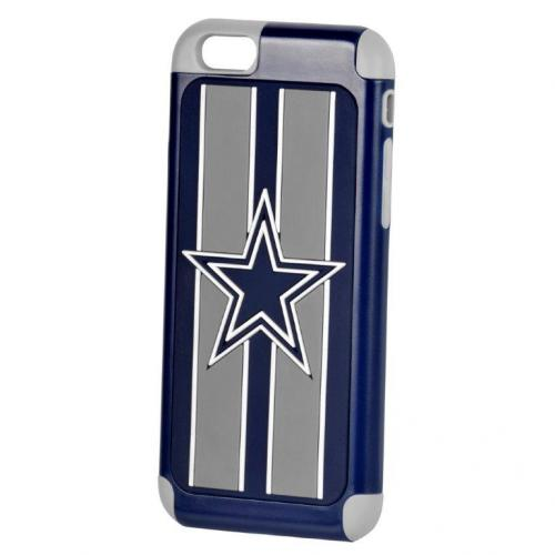 Apple iPhone 6/6S (4.7 inch) NFL Case, Slim Dual layer Hybrid Hard Case on TPU Case [Dallas Cowboys]