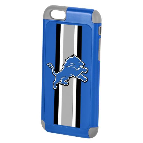 Apple iPhone 6/6S (4.7 inch) NFL Case, Slim Dual layer Hybrid Hard Case on TPU Case [Detroit Lions]