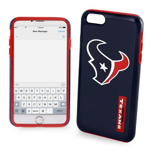 Apple iPhone 6/6S (4.7 inch) NFL Case, Slim Dual layer Hybrid Hard Case on TPU Case [Houston Texans]