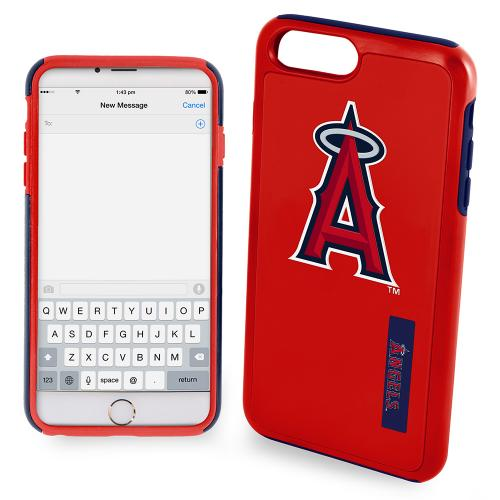 Apple iPhone 6/6S (4.7 inch) MLB Case, Slim Dual layer Hybrid Hard Case on TPU Case [Los Angeles Angels]