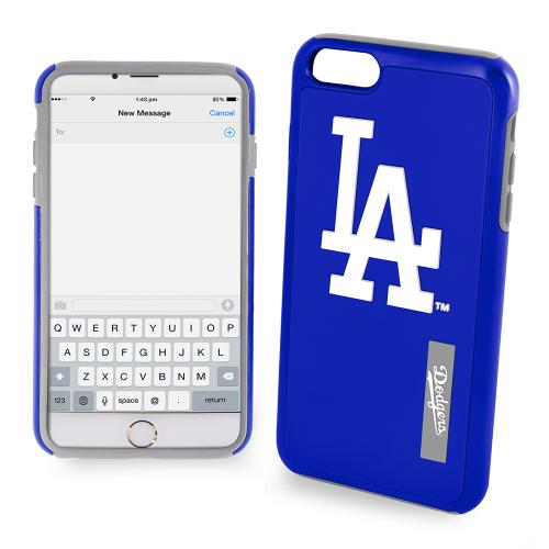 Apple iPhone 6/6S (4.7 inch) MLB Case, Slim Dual layer Hybrid Hard Case on TPU Case [Los Angeles Dodgers]