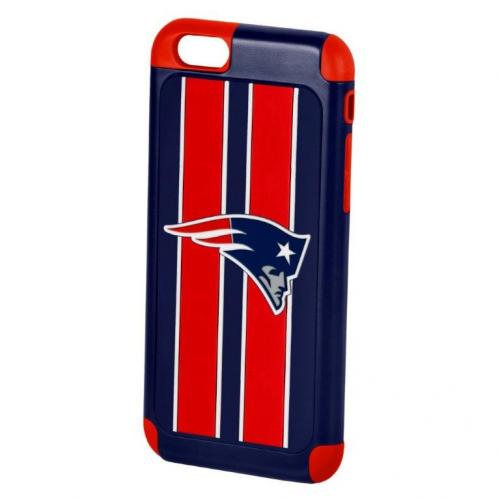 Apple iPhone 6/6S (4.7 inch) NFL Case, Slim Dual layer Hybrid Hard Case on TPU Case [New England Patriots]