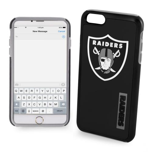 Apple iPhone 6/6S (4.7 inch) NFL Case, Slim Dual layer Hybrid Hard Case on TPU Case [Oakland Raiders]