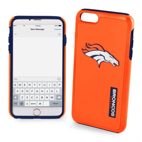 Apple iPhone 6/6S Plus (5.5 inch) NFL Case, Slim Dual layer Hybrid Hard Case on TPU Case [Denver Broncos]