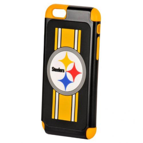 Apple iPhone 6/6S (4.7 inch) NFL Case, Slim Dual layer Hybrid Hard Case on TPU Case [Pittsburgh Steelers]