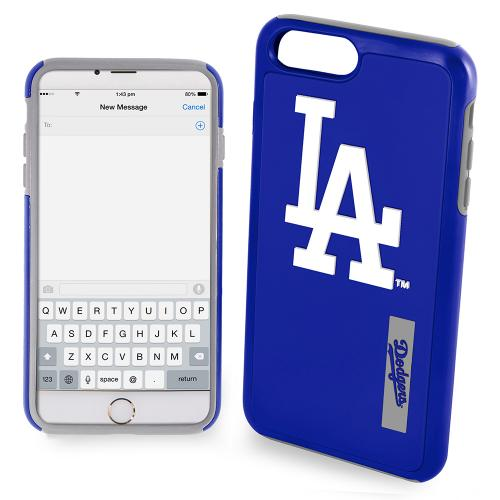 Apple iPhone 6/6S Plus (5.5 inch) MLB Case, Slim Dual layer Hybrid Hard Case on TPU Case [Los Angeles Dodgers]