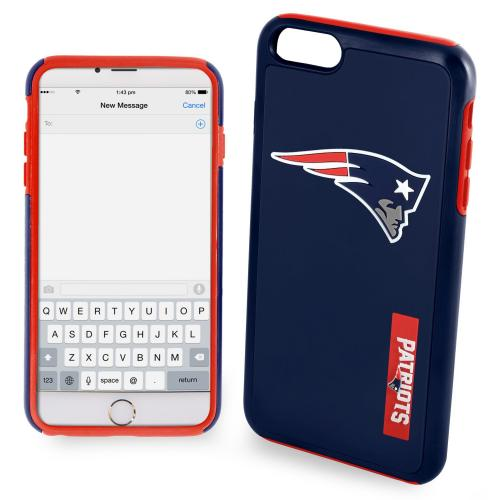 Apple iPhone 6/6S Plus (5.5 inch) NFL Case, Slim Dual layer Hybrid Hard Case on TPU Case [New England Patriots]