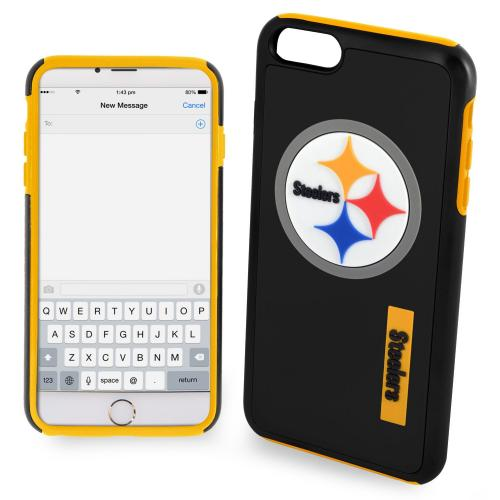 Apple iPhone 6/6S Plus (5.5 inch) NFL Case, Slim Dual layer Hybrid Hard Case on TPU Case [Pittsburgh Steelers]