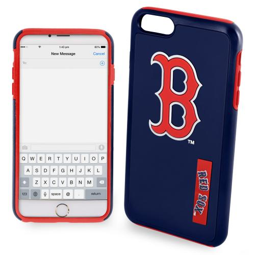 Apple iPhone 6/6S Plus (5.5 inch) MLB Case, Slim Dual layer Hybrid Hard Case on TPU Case [Boston Red Sox]