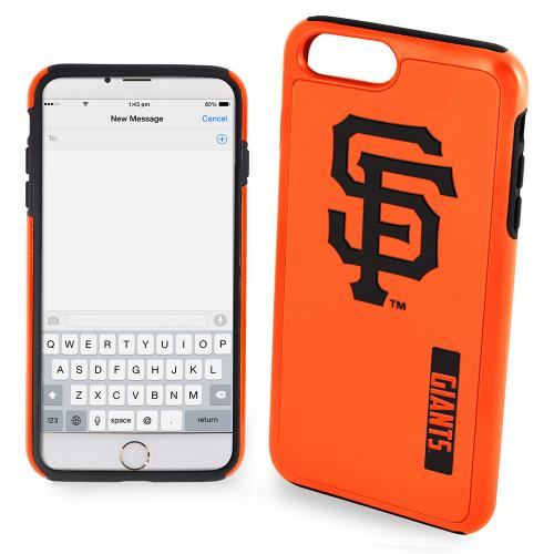 Apple iPhone 6/6S Plus (5.5 inch) MLB Case, Slim Dual layer Hybrid Hard Case on TPU Case [San Francisco Giants]