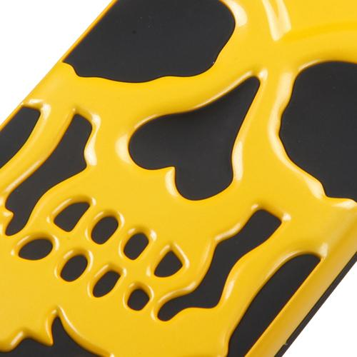 Apple iPhone 6S/6 (4.7 inch) Case, Skull Hybrid Dual Layer Hard Case on Silicone Skin [Yellow]