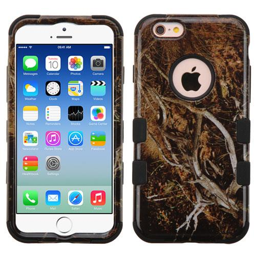 Apple iPhone 6S/6 (4.7 inch) Case, TUFF Hybrid Dual Layer Hard Case on Silicone Skin [Tree Branches on Black]
