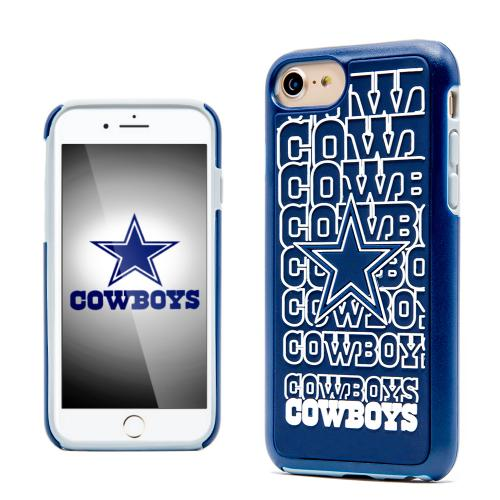 Apple iPhone 7 (4.7 inch) NFL Case, Slim Dual layer Hybrid Hard Case on TPU Case [Dallas Cowboys]