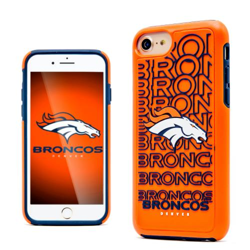 Apple iPhone 7 (4.7 inch) NFL Case, Slim Dual layer Hybrid Hard Case on TPU Case [Denver Broncos]