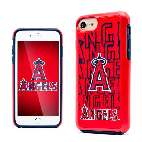 Apple iPhone 7 (4.7 inch) MLB Case, Slim Dual layer Hybrid Hard Case on TPU Case [Los Angeles Angels]