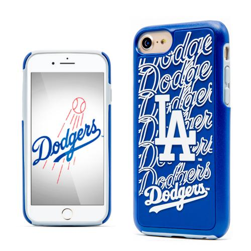 Apple iPhone 7 (4.7 inch) MLB Case, Slim Dual layer Hybrid Hard Case on TPU Case [Los Angeles Dodgers]