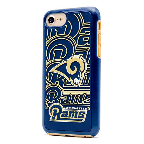 Apple iPhone 7 (4.7 inch) NFL Case, Slim Dual layer Hybrid Hard Case on TPU Case [Los Angeles Rams]