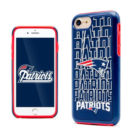 Apple iPhone 7 (4.7 inch) NFL Case, Slim Dual layer Hybrid Hard Case on TPU Case [New England Patriots]