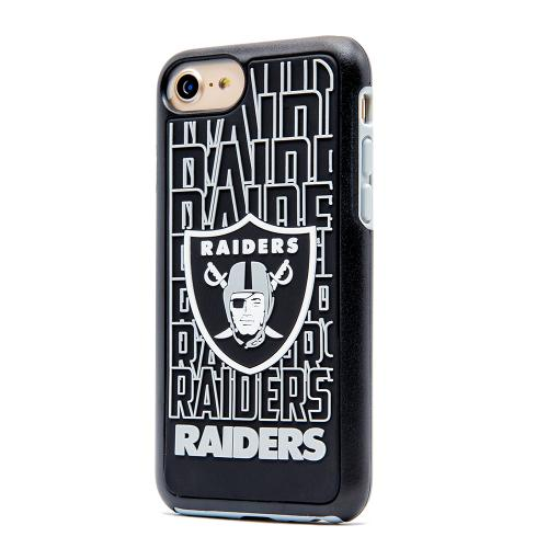 Apple iPhone 7 (4.7 inch) NFL Case, Slim Dual layer Hybrid Hard Case on TPU Case [Oakland Raiders]