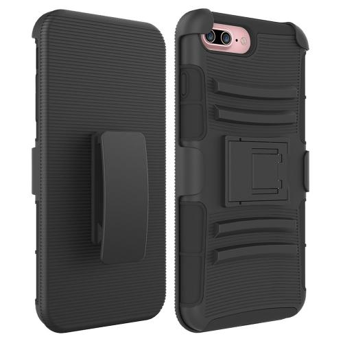 Apple iPhone 7 Plus (5.5 inch) Holster Case, REDshield [Black] Supreme Protection Hard Plastic on Silicone Skin Dual Layer Hybrid Case
