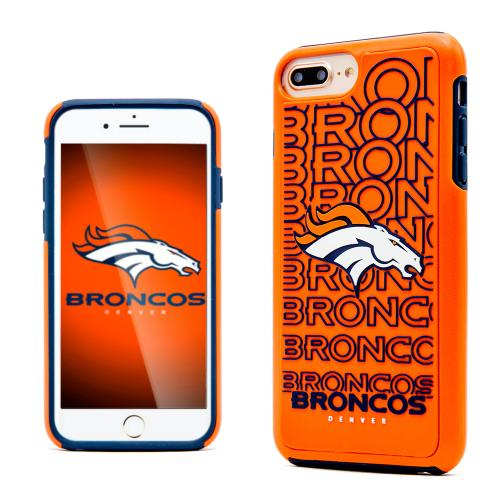 Apple iPhone 7 Plus (5.5 inch) NFL Case, Slim Dual layer Hybrid Hard Case on TPU Case [Denver Broncos]