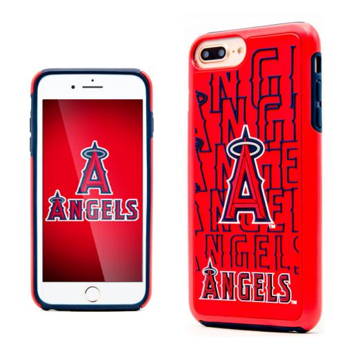Apple iPhone 7 Plus (5.5 inch) MLB Case, Slim Dual layer Hybrid Hard Case on TPU Case [Los Angeles Angels]