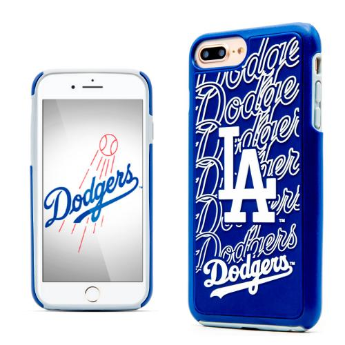 Apple iPhone 7 Plus (5.5 inch) MLB Case, Slim Dual layer Hybrid Hard Case on TPU Case [Los Angeles Dodgers]