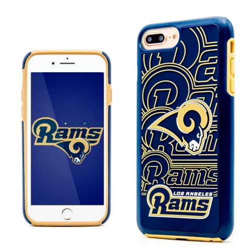 Apple iPhone 7 Plus (5.5 inch) NFL Case, Slim Dual layer Hybrid Hard Case on TPU Case [Los Angeles Rams]