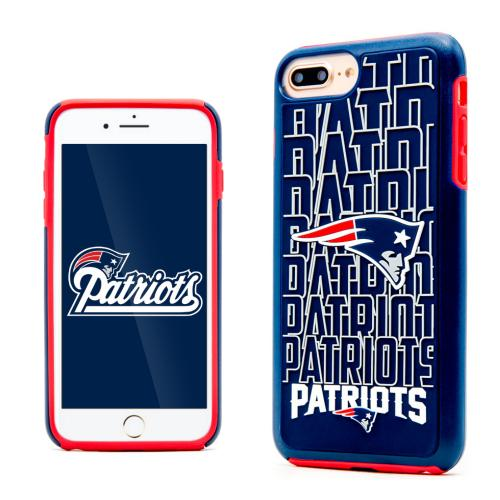 Apple iPhone 7 Plus (5.5 inch) NFL Case, Slim Dual layer Hybrid Hard Case on TPU Case [New England Patriots]