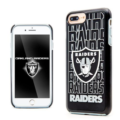 Apple iPhone 7 Plus (5.5 inch) NFL Case, Slim Dual layer Hybrid Hard Case on TPU Case [Oakland Raiders]