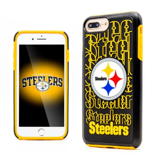 Apple iPhone 7 Plus (5.5 inch) NFL Case, Slim Dual layer Hybrid Hard Case on TPU Case [Pittsburgh Steelers]