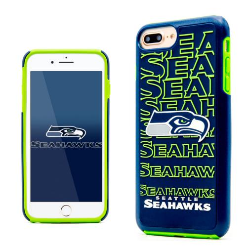 Apple iPhone 7 Plus (5.5 inch) NFL Case, Slim Dual layer Hybrid Hard Case on TPU Case [Seattle Seahawks]
