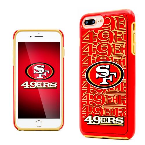 Apple iPhone 7 Plus (5.5 inch) NFL Case, Slim Dual layer Hybrid Hard Case on TPU Case [San Francisco 49ers]