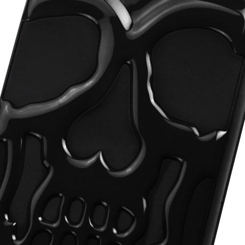 [Apple iPhone 7 Plus] (5.5 inch) Case, Skull Hybrid Dual Layer Hard Case on Silicone Skin [Black]