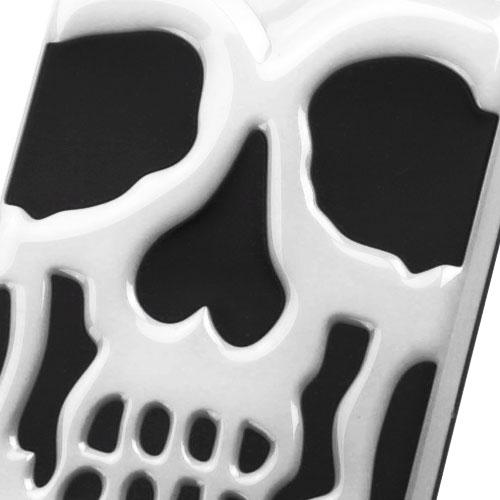 Apple iPhone 7 Plus (5.5 inch) Case, Skull Hybrid Dual Layer Hard Case on Silicone Skin [White]