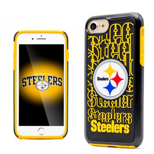 Apple iPhone 7 (4.7 inch) NFL Case, Slim Dual layer Hybrid Hard Case on TPU Case [Pittsburgh Steelers]