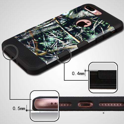 [Apple iPhone 7 Plus] (5.5 inch) Case, TUFF Hybrid Dual Layer Hard Case on TPU Skin [Cedar Tree - Hunting Camouflage]