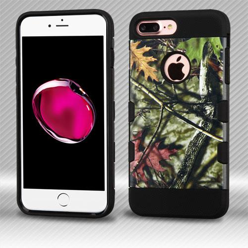 Apple iPhone 7 Plus (5.5 inch) Case, TUFF Hybrid Dual Layer Hard Case on TPU Skin [Oak Leaves - Hunting Camouflage]