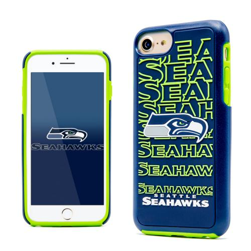 Apple iPhone 7 (4.7 inch) NFL Case, Slim Dual layer Hybrid Hard Case on TPU Case [Seattle Seahawks]