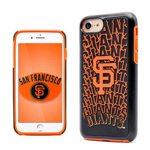 Apple iPhone 7 (4.7 inch) MLB Case, Slim Dual layer Hybrid Hard Case on TPU Case [San Francisco Giants]