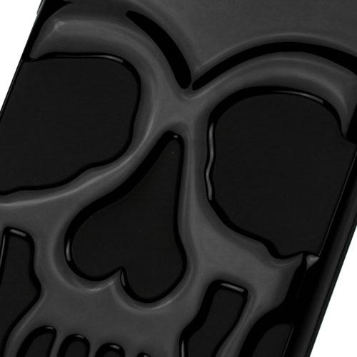 Apple iPhone 7 (4.7 inch) Case, Skull Hybrid Dual Layer Hard Case on Silicone Skin [Black]