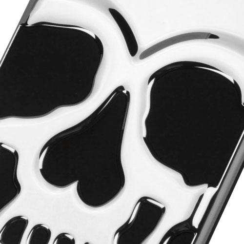 [Apple iPhone 7] (4.7 inch) Case, Skull Hybrid Dual Layer Hard Case on Silicone Skin [Silver]