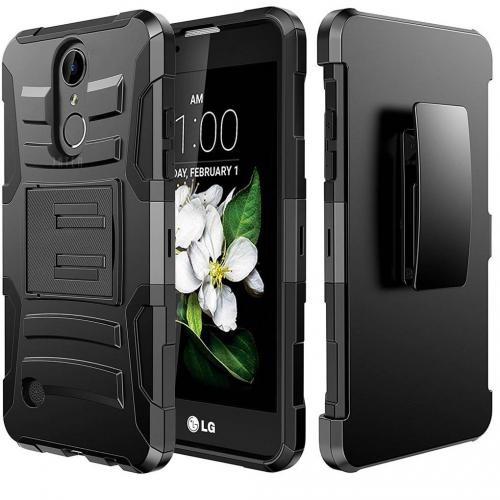 LG Aristo Case, REDshield Supreme Protection Hard Plastic on Silicone Skin Dual Layer Hybrid Case [Black]