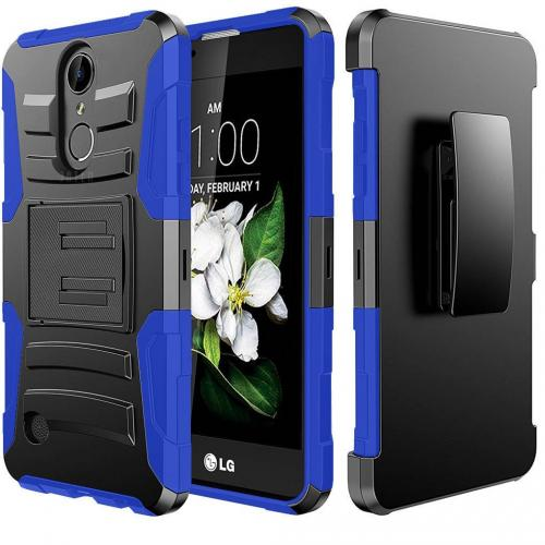 LG Aristo Case, REDshield Supreme Protection Hard Plastic on Silicone Skin Dual Layer Hybrid Case [Blue/ Black]